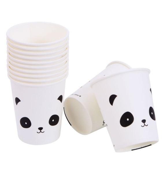 Papp -Trinkbecher: Panda,a little lovely company