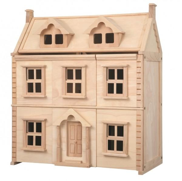PLAN TOYS Viktorianisches Puppenhaus zum Aufklappen