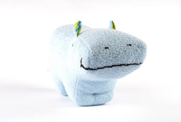 Spieluhr-PAULA Bio-Frottee hellblau