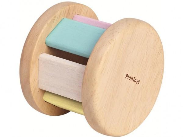 PLAN TOYS Krabbelspielzeug Walze Pastell