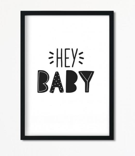 Poster *Hey Baby* Kunstdruck