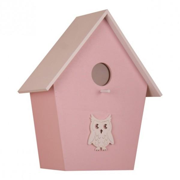 Kinderzimmerlampe Kinder Vogelhauslampe rosa